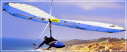 Click Here to view an enlargement of Mel Glantz soaring the Freedom hang glider at Torrey Pines, California USA