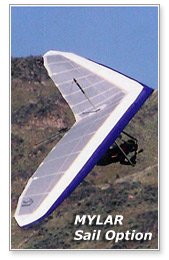 Freedom Hang Glider · Mylar Sail Option