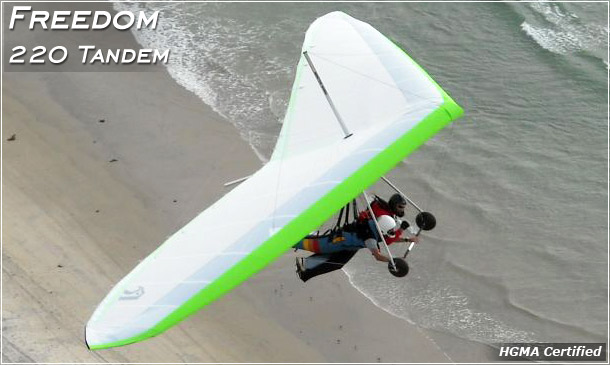 Freedom 220 Tandem Hang Glider · North Wing · phone 509 682 4359
