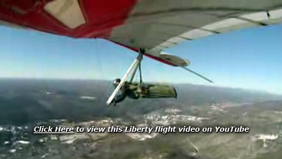 Liberty flight over Ellenville, New York