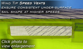 Click here for enlargement - Wing Tip Speed Vents promote consistent airfoil shape at higher speeds