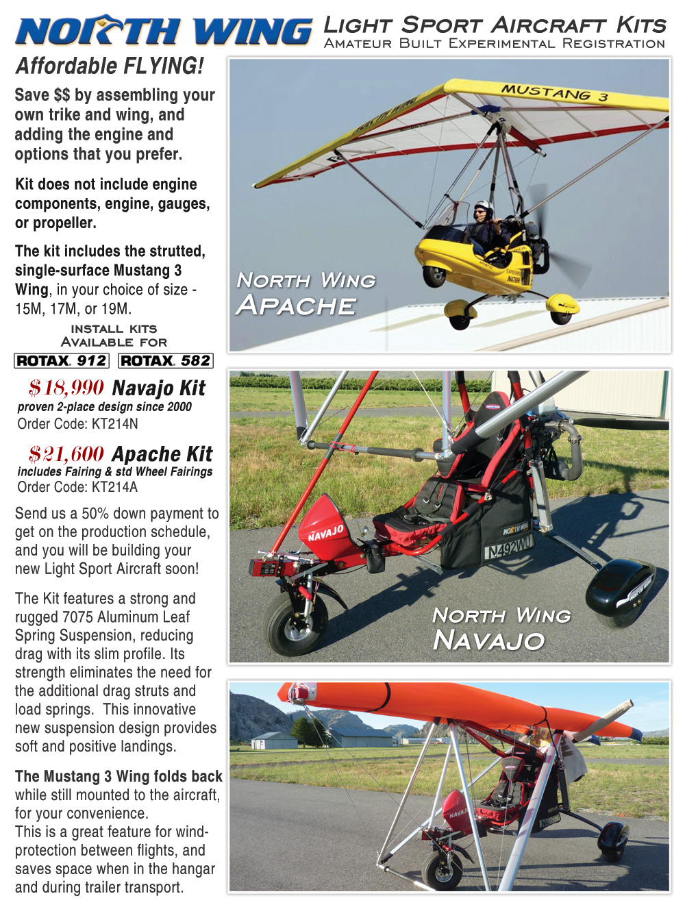 Light Sport Aircraft Kit   Amateur Built Experimental Registration.  Additional Photos And Information: Brochure Page ...
