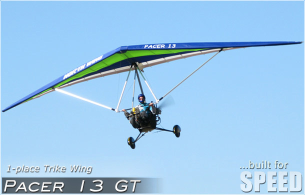 North Wing · Pacer 13 GT weight shift control Ultralight