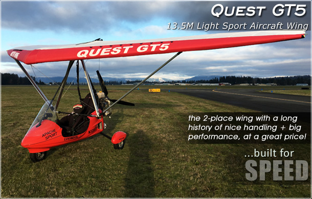 North Wing · Quest GT5 13.5M weight shift control Light Sport Aircraft Wing