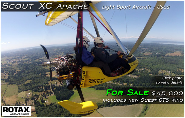 North Wing · Scout XC Apache Light Sport Aircraft FOR SALE