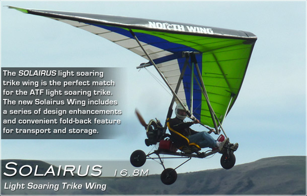 North Wing · Solairus weight shift control Ultralight Trike