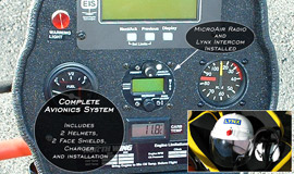 MicroAir Radio with Lynx Intercom - Installed (complete avionics system)