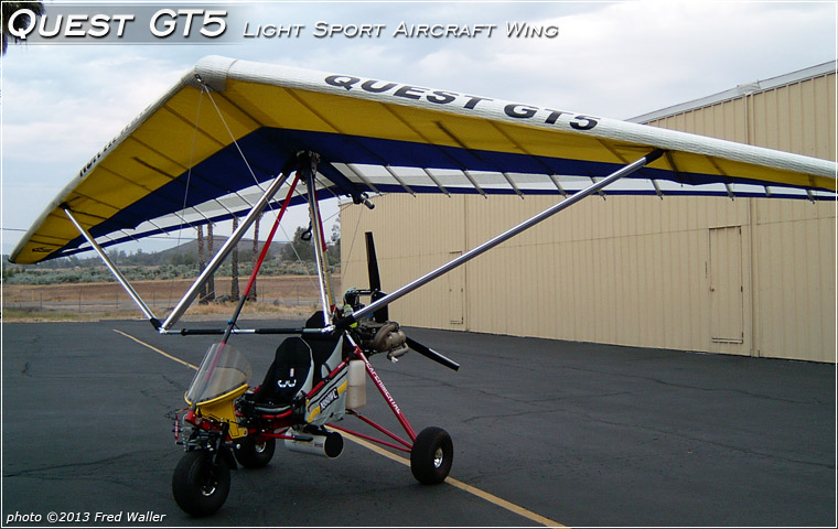 North Wing QUEST GT5 wing mounted on Fred Waller's light sport aircraft